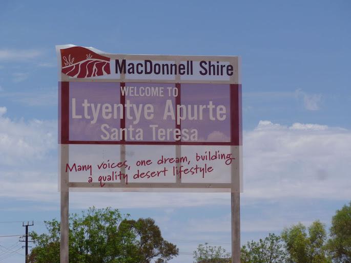 Santa Teresa sign