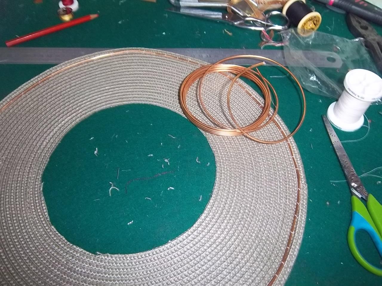 Charme d 39 antan chapeau la h ricourt xviii s r alis en for Fabriquer un set de table plastifie