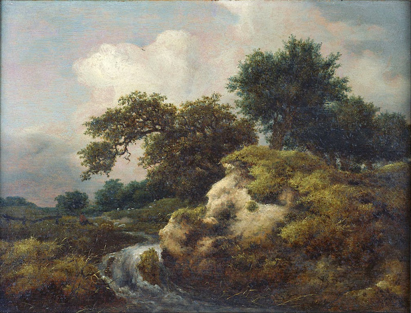 Jacob van Ruysdael - Landscape with Dune and Small Waterfall - Google Art Project