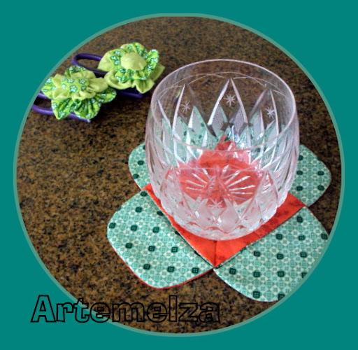 artemelza - porta copo com 4 fuxicos