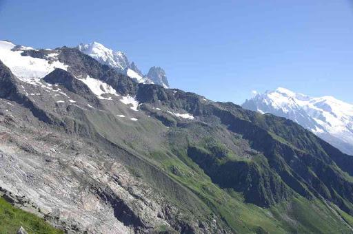 Aiguille Verte et mont Blanc
