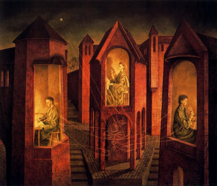 Remedios Varo - Three destinations, 1956