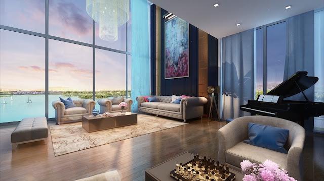 Căn hộ penthouse Sky Villa Skylake