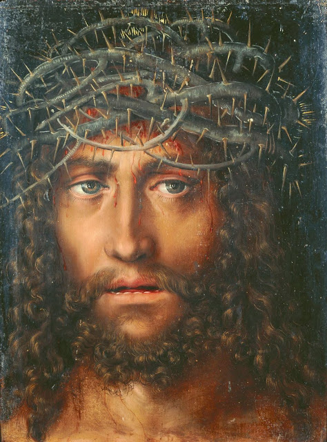 Lucas Cranach the Elder - Head of Christ with Crown of Thorns