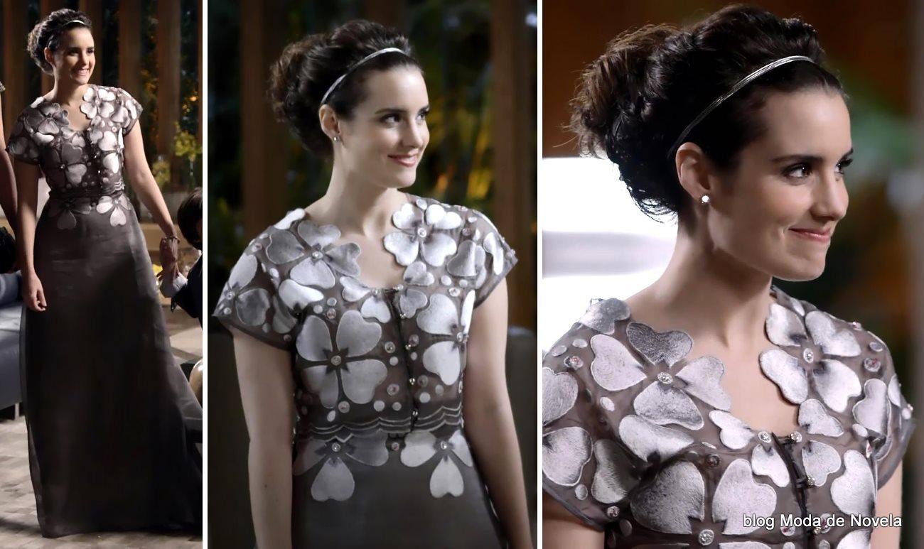 moda da novela Geração Brasil, vestido de noivado da Lara