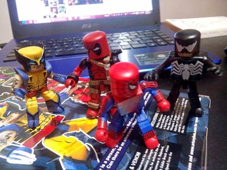 spider-man wolverine venom deadpool minimates marvel