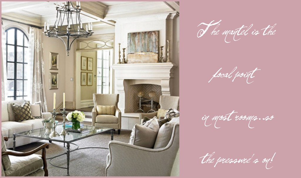 Design Blooms: The puzzling mantel