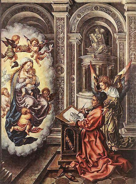 Jan Mabuse - St Luke Painting the Madonna
