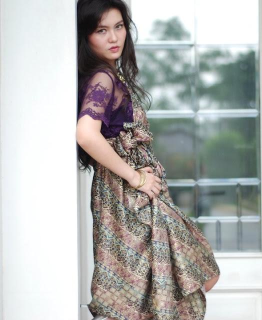 Design By If: Purple Lace With Batik