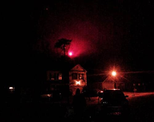 Brightly Glowing Object Photographed Over South Carolina Neighborhood
