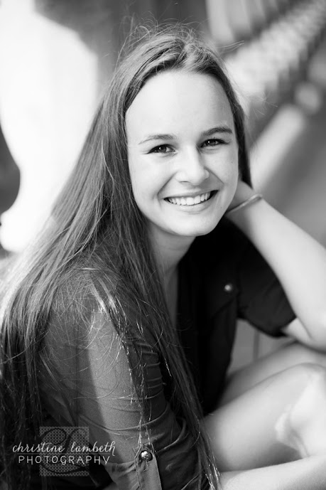 Beautiful 2014 Senior portrait - black & white - Houston