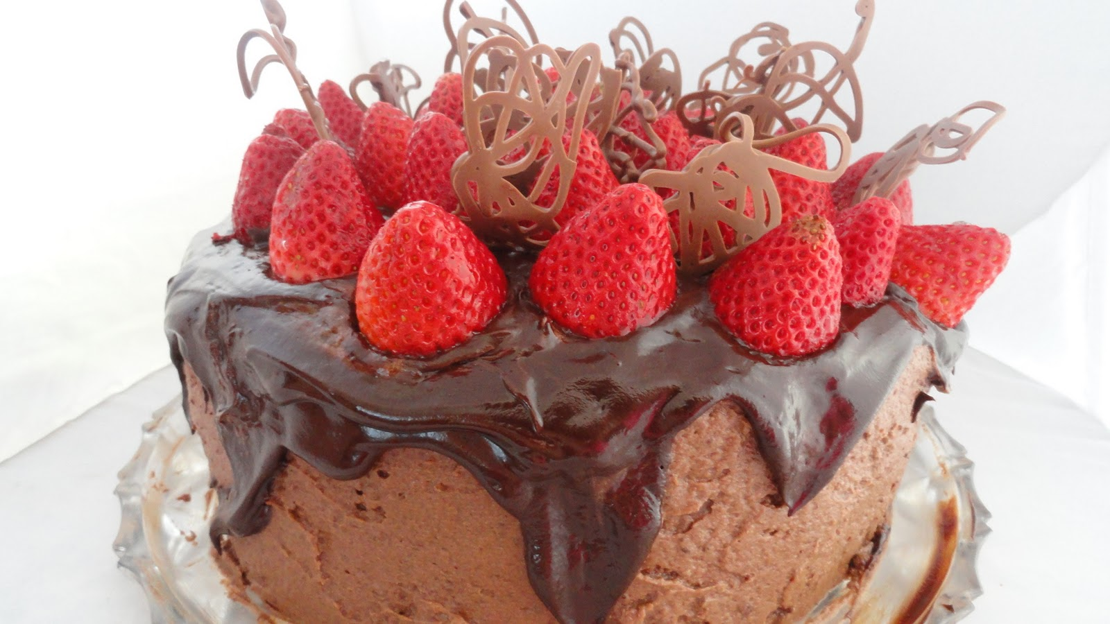 The On-Call Cook: Chocolate Strawberry Celebration Cake