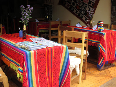Restaurant on the main street in Machu Picchu Peru