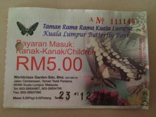 Tiket Taman Rama-Rama