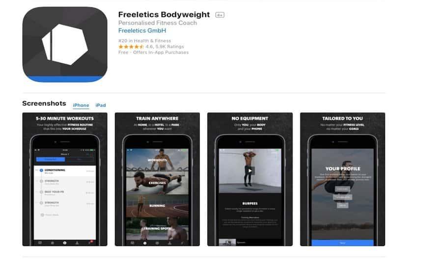 Freeletics bodyweight приложения для тренировок дома