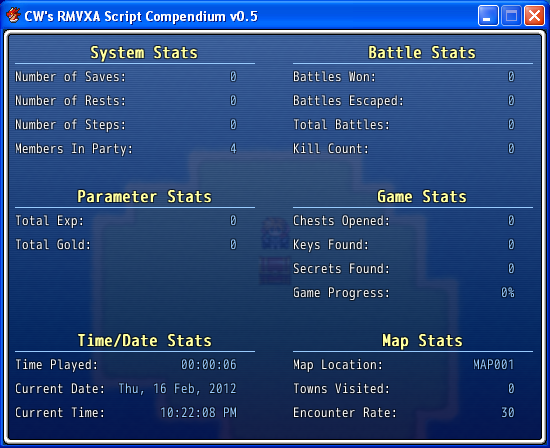 Extra Stats Window (RMVXA)