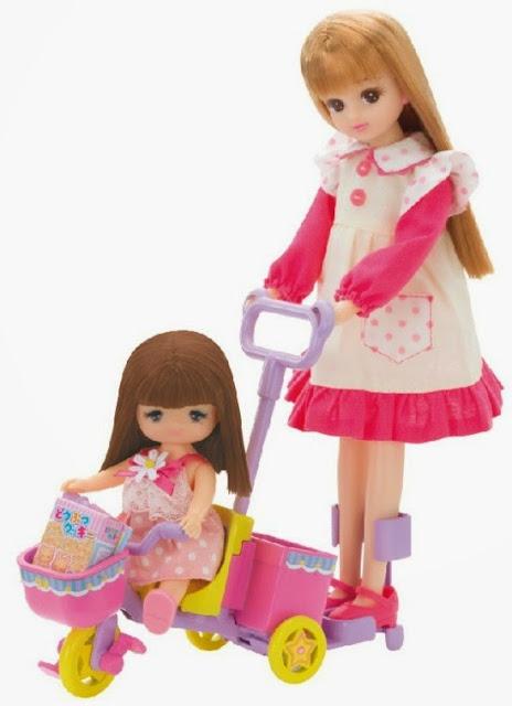 Sản phẩm có thể kết hợp chơi cùng với búp bê Rika- Chan tạo nên mối tình cảm thật ngọt ngào, thân thương