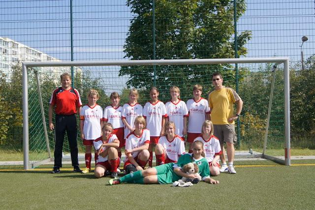 Mannschaftsfoto der D-Mädchen des FFC Berlin in der Saison 2011/12