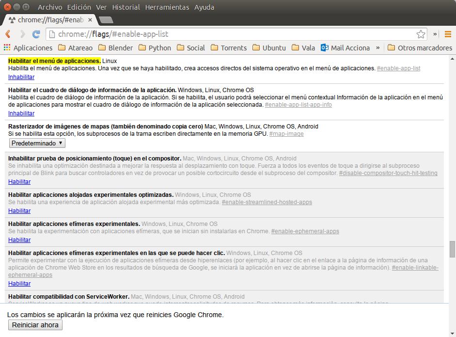 Habilitar el menú de aplicaciones de Chrome en Ubuntu - El atareao