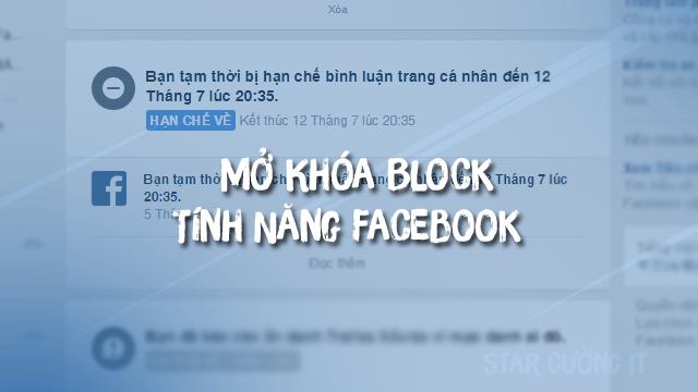 Mở Khóa Block Tính Năng Facebook ( Đăng bài , Chia sẻ , Cmt , Like , … )