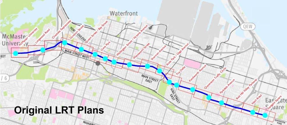 A logical, straight route through the city - Hamilton LRT