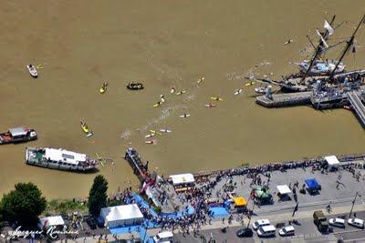 Traversée de Bordeaux à la nage