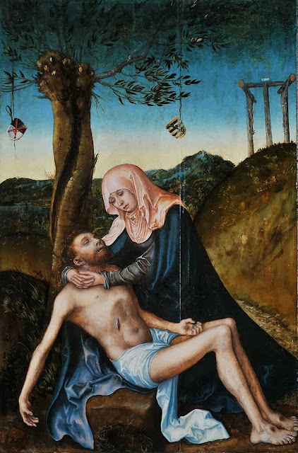 Lucas Cranach the Elder - Pietà beneath the Cross