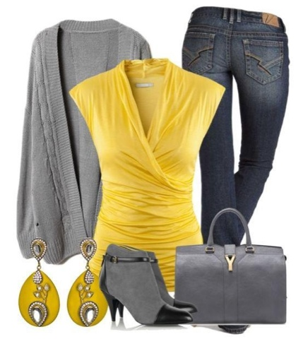 Yellow u0026 grey outfits u22c6 Instyle Fashion One
