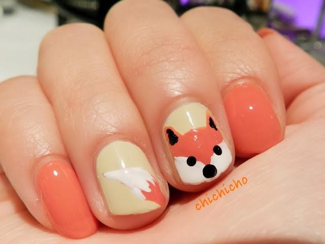 Fox (shiba inu)  Nail Art