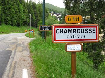 Entrée dans Chamrousse
