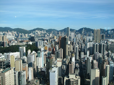 Panoramic View of Hong Kong City