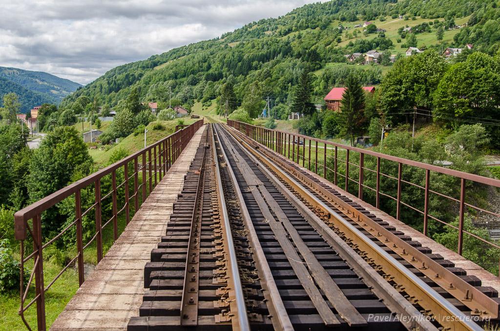Железно-дорожный мост в Квасах