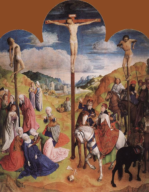 Justus van Gent - Calvary Triptych (central panel)