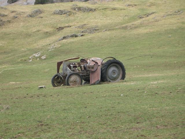 abandoned tractor at Twistleton Dale House