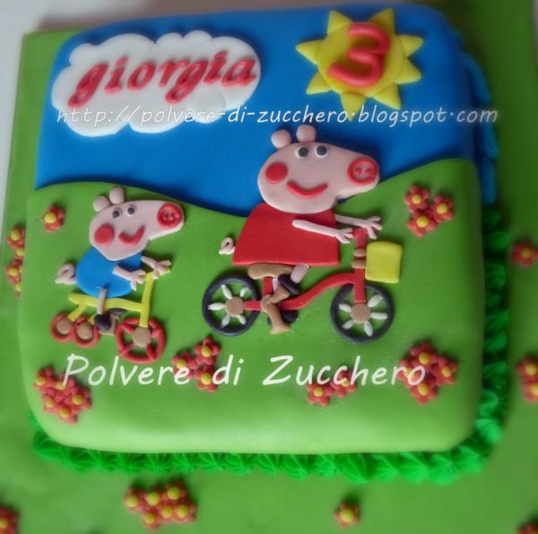 Torta Decorata La Peppa Pig George Polvere Di Zuccherocake