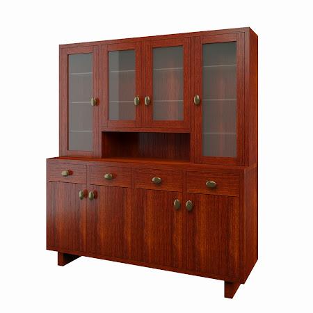 Aurora China Cabinet in Sedona Cherry