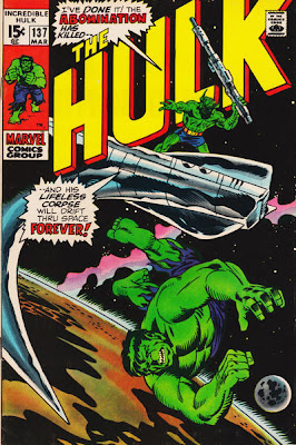 Incredible Hulk #137, The Abomination, Klaatu, Xeron and Captain Cybor