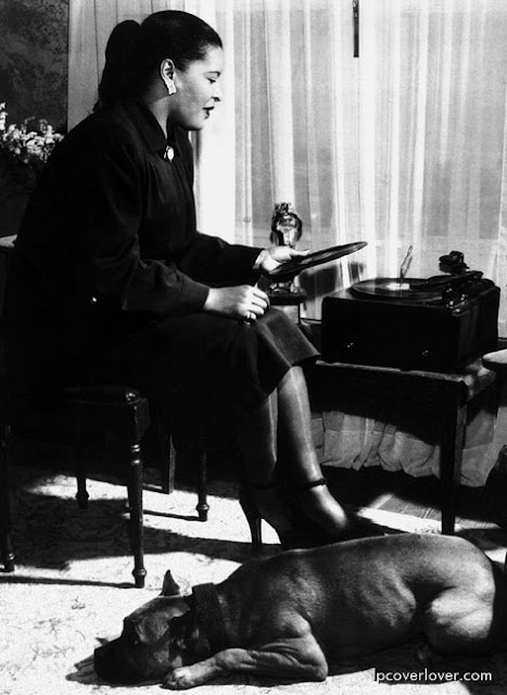 Billie Holiday and Mister at home