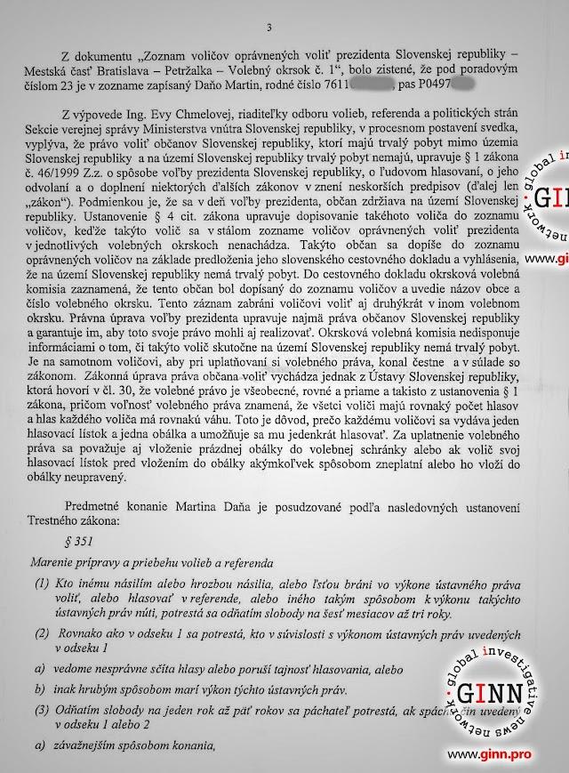 Obvinenenie NAKA, novinár Martin Daňo, strana 3