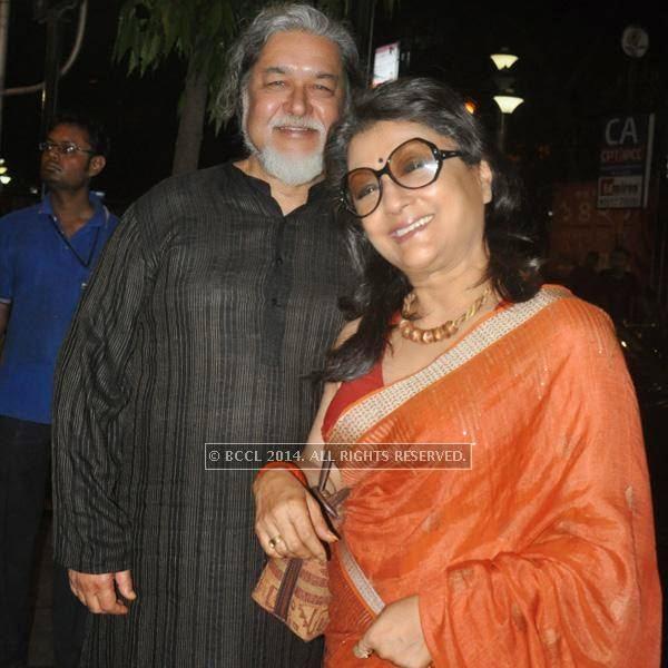 Kalyan and Aparna Sen during the premiere of Ranjan Ghosh's movie Hrid Majhare at Priya in Kolkata.