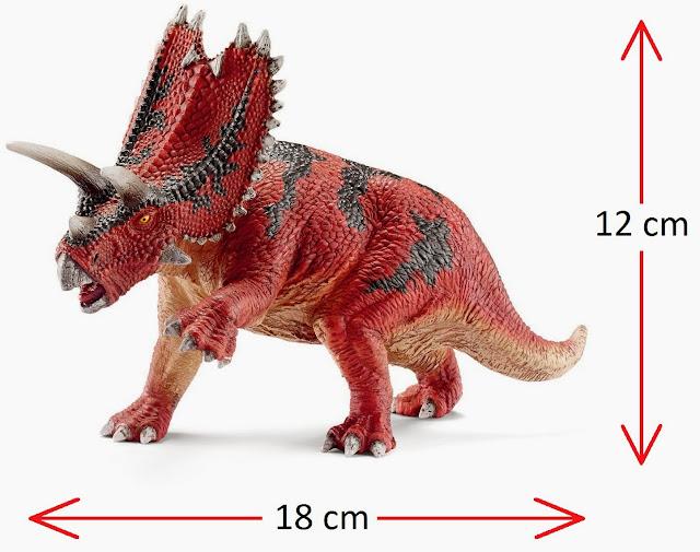 Mô hình Khủng long Schleich Pentaceratops khoảng: 18 x 12 x 6 cm