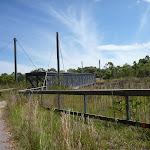Fencing approaching the pedestrian over bridge on the Wallarah Pennisula Walk (388901)