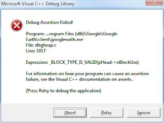 Debug Assertion Failed - Google Product Forums