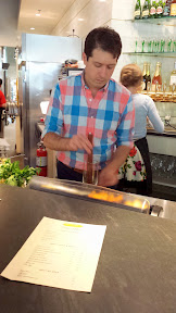 St Honore Cider Program Media Preview, Jacob Grier making a cocktail for me