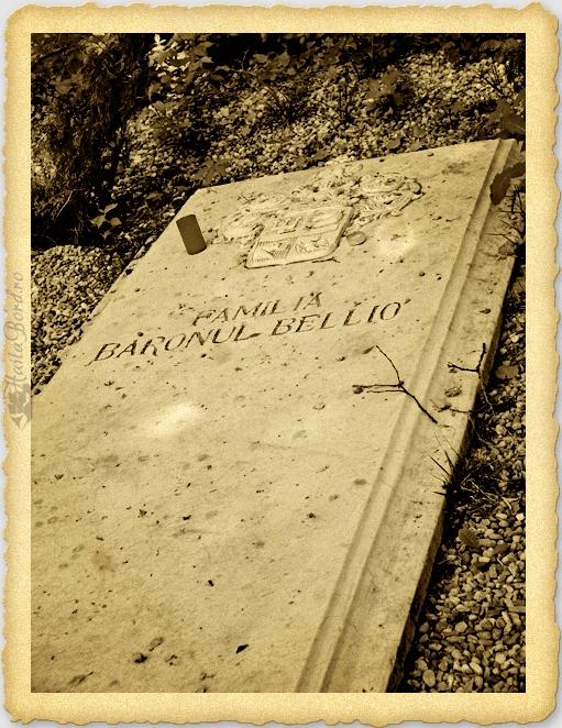 mormant familia baron bellio cimitir bellu