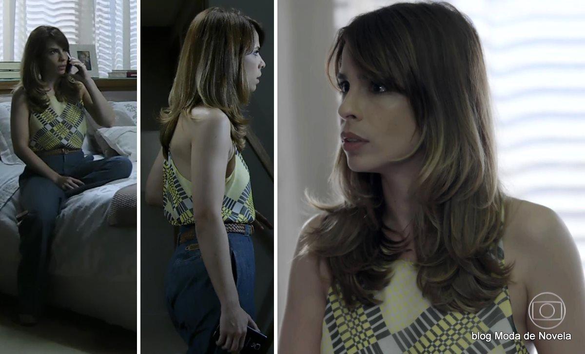 moda da novela Império, look da Danielle dia 20 de outubro