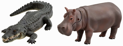 Khu vận động Big Action Tree tại vườn thú Ania bao gồm 1 mô hình cá sấu và 1 mô hình hà mã