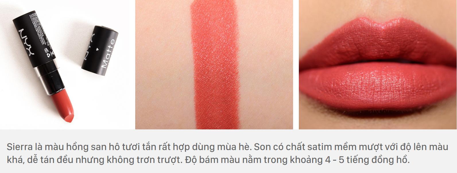 NYX Matte Lipstick màu Sierra