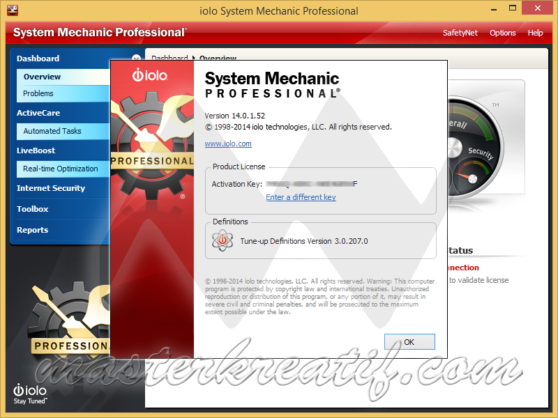 system mechanic professional 15.5 key