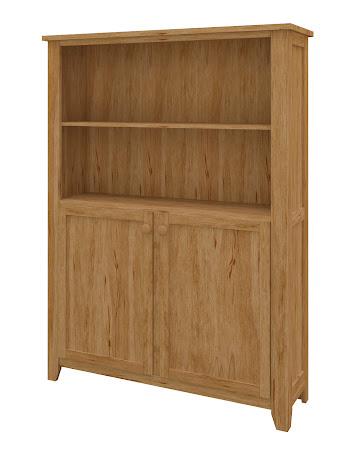 Shaker Wooden Door Bookshelf in Classical Maple